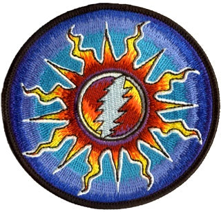 Grateful Dead - Sunshine Lightning Embroidered Patch