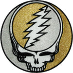 Grateful Dead - Silver / Gold Steal Your Face Patch - Misc.