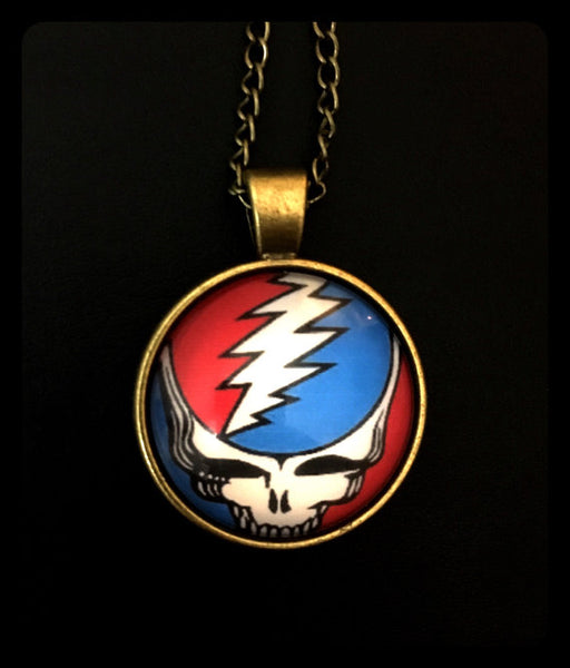 Grateful Dead - Steal Your Face Glass Photo Necklace - Misc.