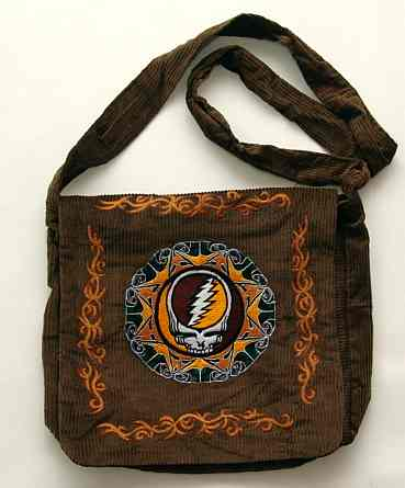 Grateful Dead - Corduroy Bag with Embroidered Steal Your Face