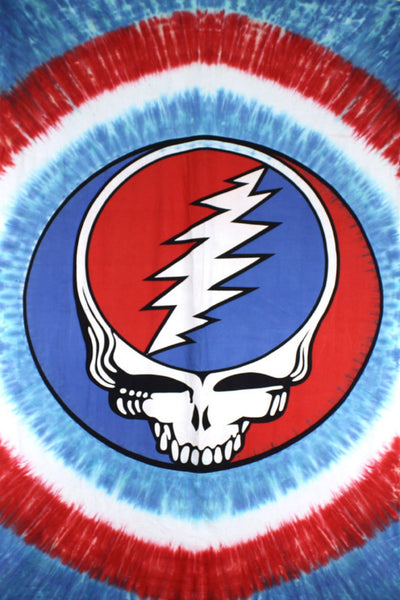 Grateful Dead - Red White & Blue Steal Your Face Tapestry - Tapestries
