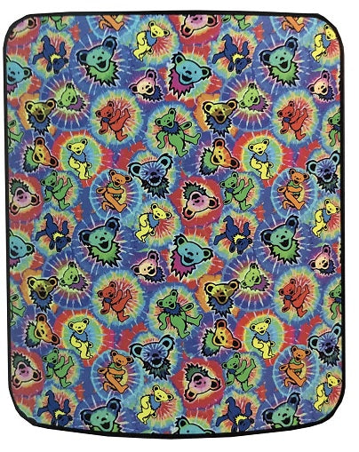 Grateful Dead - Tie Dye Bear Jumble Fleece Throw Blanket