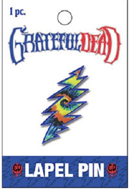 Grateful Dead - Tie Dye Lightning Bolt Lapel Hat Pin