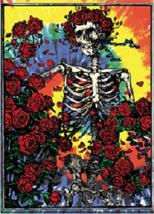 Grateful Dead - Tie Dye Skeleton & Roses Sticker