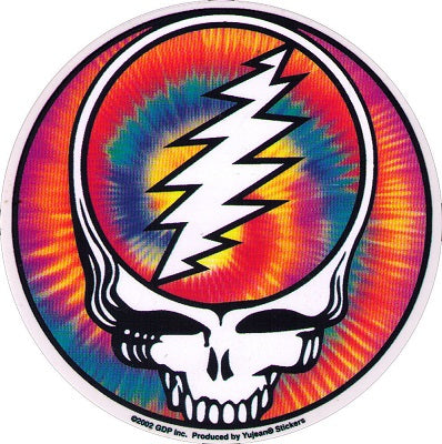 Grateful Dead - Tie Dye Steal Your Face Sticker - Sticker