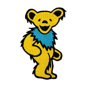 Grateful Dead - Yellow Dancing Bear Embroidered Patch