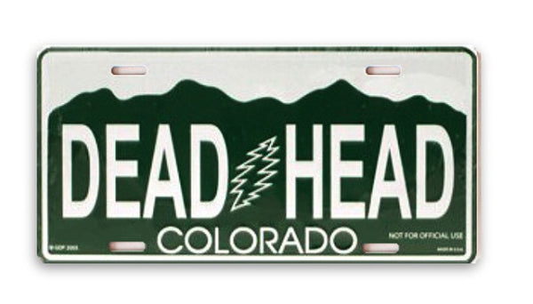 Grateful Dead - Colorado Dead Head License Plate - Misc.