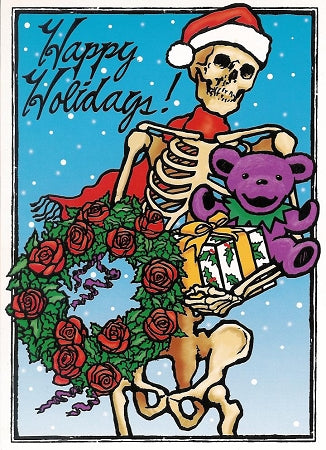 Grateful Dead - Skeleton Holiday Christmas Card
