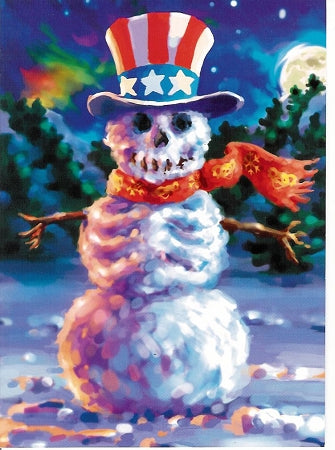 Grateful Dead - Snowman Christmas Holiday Card