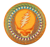 Grateful Dead - Orange Sunshine Steal Your Face Patch