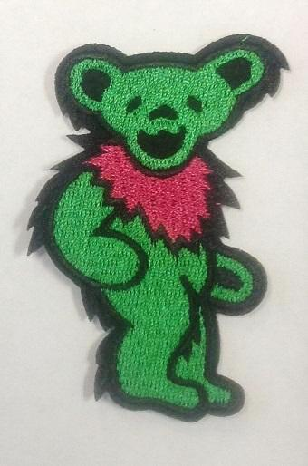 Grateful Dead - Green Dancing Bear Embroidered Patch - Patches