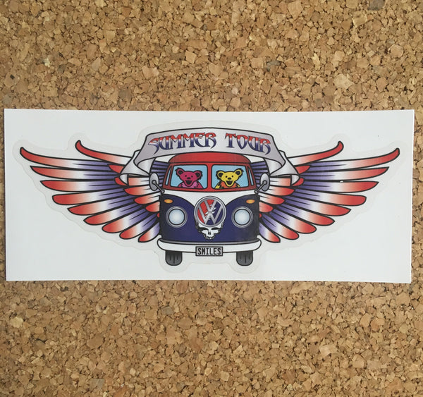 Grateful Dead - Summer Tour Decal Sticker