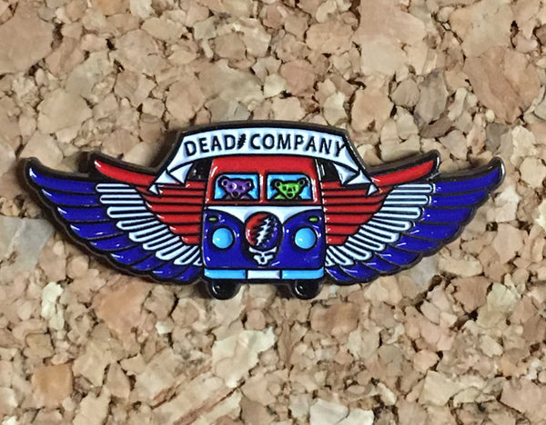 Dead & Company - Dancing Bears VW Bus Wings Collectible Pin