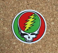 Grateful Dead - Reggae Rasta Steal Your Face Sticker