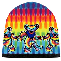 Grateful Dead - Tie Dye Dancing Bears Knit Beanie Hat