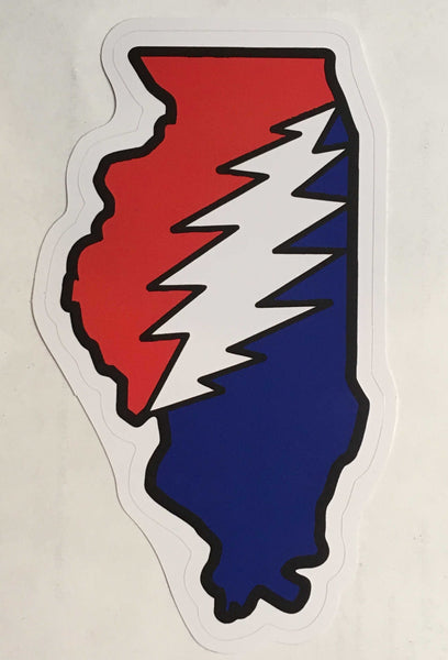 Grateful Dead - Illinois Bolt Bumper Sticker - Sticker