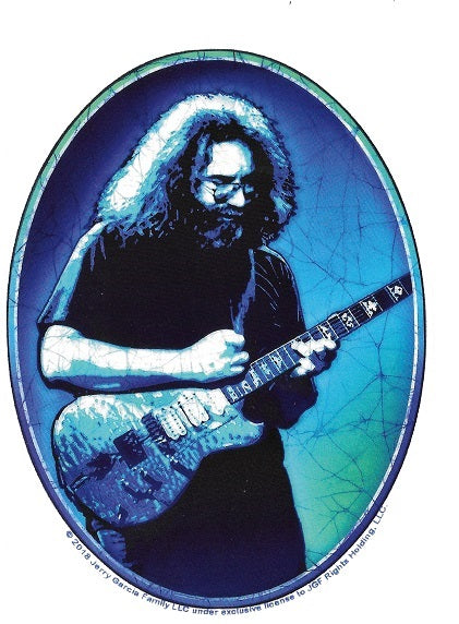 Jerry Garcia -  Jerry Playing Wolf Guitar Sticker