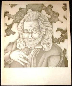 Jerry Garcia 1994 Fan Art Poster Print
