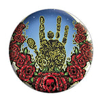 Jerry Garcia - Hand & Roses Button