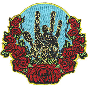 Jerry Garcia - Hand & Roses Iron On Patch - Misc.
