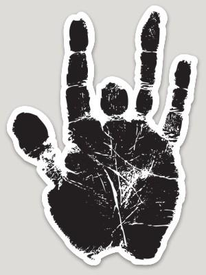 Jerry Garcia - Hand Print Die Cut Sticker - Stickers