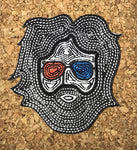 Jerry Garcia - Psychedelic Shades Iron On Patch