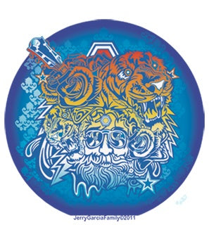 Jerry Garcia - Tigers Decal Sticker