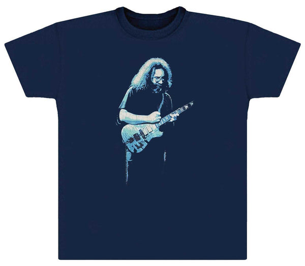 Jerry Garcia Playing Wolf Guitar T-Shirt