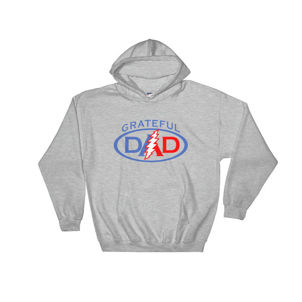 Grateful Dad Hooded Sweatshirt Heather Grey Color - S / Heather Grey - Hoodies