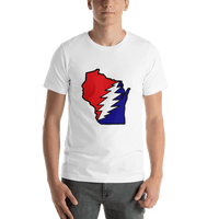 Grateful Dead Wisconsin Bolt Short-Sleeve Unisex T-Shirt - White / S - T-Shirts