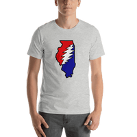Grateful Dead Illinois Bolt T-Shirt - Athletic Heather / S - T-Shirts