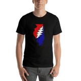 Grateful Dead Illinois Bolt T-Shirt - Black / S - T-Shirts