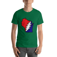 Grateful Dead Wisconsin Bolt Short-Sleeve Unisex T-Shirt - Kelly / S - T-Shirts