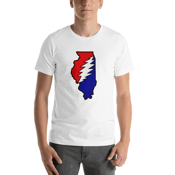 Grateful Dead Illinois Bolt T-Shirt - White / S - T-Shirts