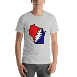 Grateful Dead Wisconsin Bolt Short-Sleeve Unisex T-Shirt - Athletic Heather / S - T-Shirts