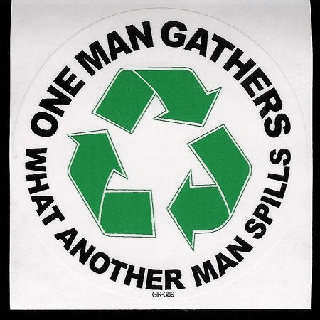 One Man Gathers...Sticker