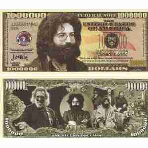 Jerry Garcia - Million Dollar Novelty Bill