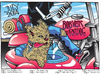 Ratdog - July 2014 Concert Tour Poster