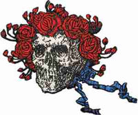 Grateful Dead - Bertha Skull And Roses Head Patch - Patches