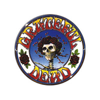 Grateful Dead - Bertha Skeleton & Roses Button