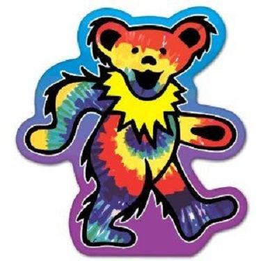 Grateful Dead - Tie Dye Bear Sticker - Sticker
