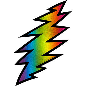 Grateful Dead - Tie Dye Glitter Lightning Bolt Sticker