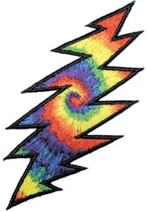 Grateful Dead - Tie Dye 13 Point Lightning Bolt Oversized Back Patch