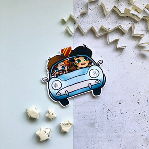 Literary Scenes - The Flying Ford Anglia Magnetic Bookmark