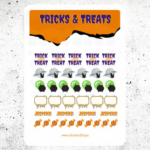 Halloween Planner Stickers Freebie