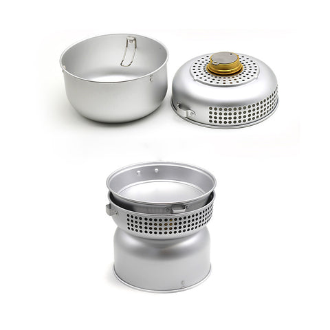 Alcohol Stove with Pots