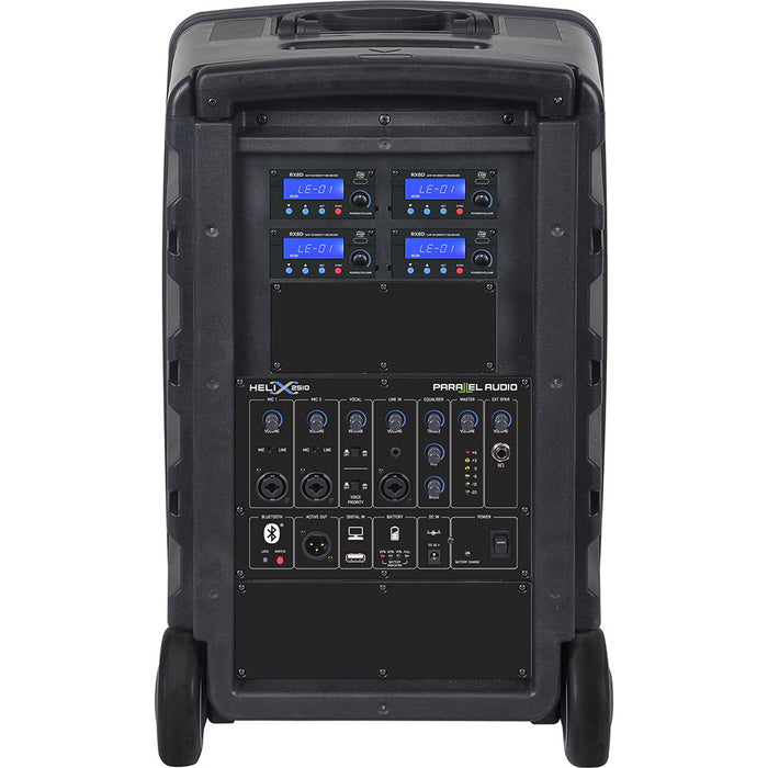 Helix 2510 - 250 Watt High Powered PA System w/Wireless Handmic