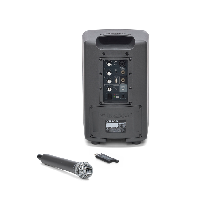 SAMSON Portable PA w/ Handheld Mic Wireless System