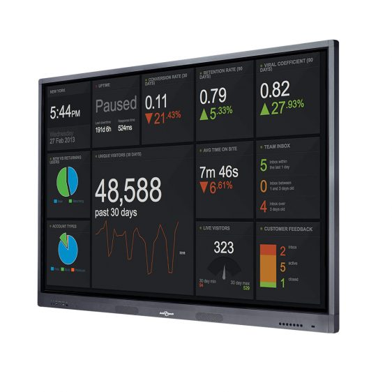 "LED Touch Screen Display 75"" Anti Glare"