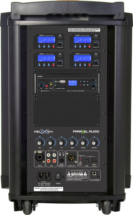 HELIX-1510x Portable PA w/Wireless Hand Mic